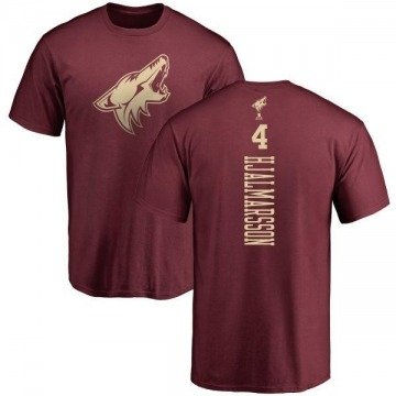 Men's Niklas Hjalmarsson Arizona Coyotes One Color Backer T-Shirt - Maroon