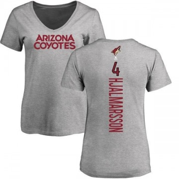 Women's Niklas Hjalmarsson Arizona Coyotes Backer T-Shirt - Ash