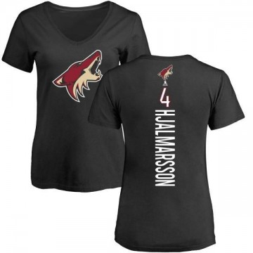 Women's Niklas Hjalmarsson Arizona Coyotes Backer T-Shirt - Black